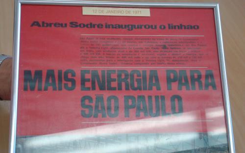 Jornal com matéria sobre a inauguração da Subestação