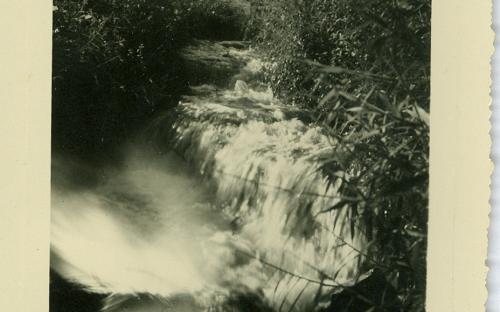 5-10-1935 - Queda d`água e 5-10-1935 - 3017 - Queda d`agua da usina velha de Americana