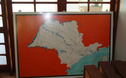 mapa das linhas de transmissão