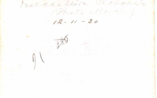 Verso - 12/11/1930