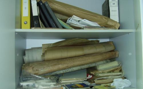Armários do arquivo técnico