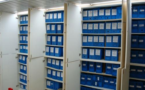 arquivo da segurança da barragem armarios e caixas