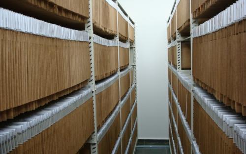 arquivo do patrimonio estantes deslizantes - processos e plantas