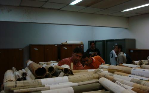 arquivo do patrimonio material vindo da CESP para catalogação e distribuição