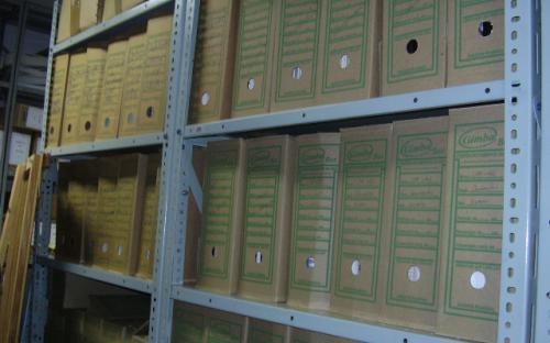 Caixas de arquivo no arquivo tecnico da UHE Mogi Guaçu