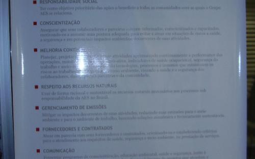 Cartaz Sobre Meio Ambiente, saúde e segurança do trabalho