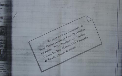Cópia do Jornal da época da Inauguração da usina de Limoeiro