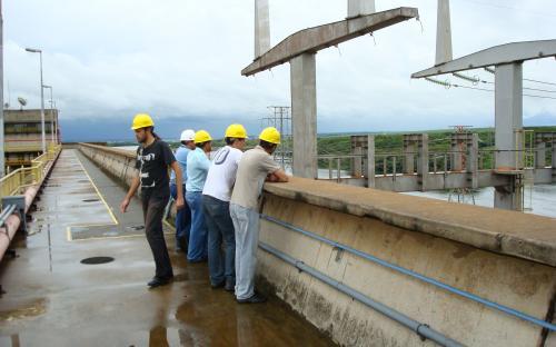 crista da barragem