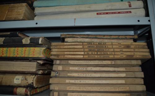 Documentos no arquivo climatizado