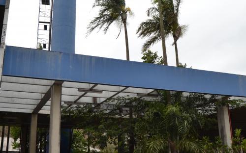 Entrada do prédio administrativo da CPFL onde se encontrava o arquivo histórico