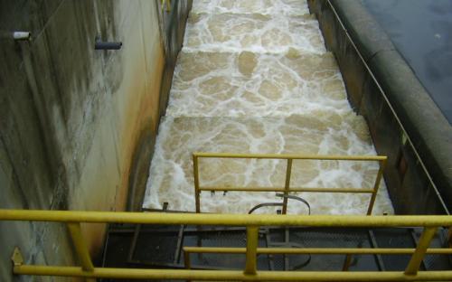 escadas para peixe - UHE Mogi Guaçu