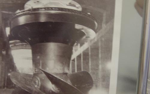 fotografia da construção da usina