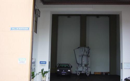 hall de montagem - entrada