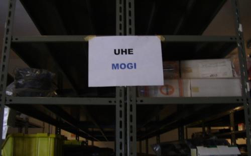 Materiais da UHE Mogi-Guaçu
