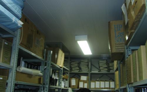 Muitas caixas no arquivo técnico externo