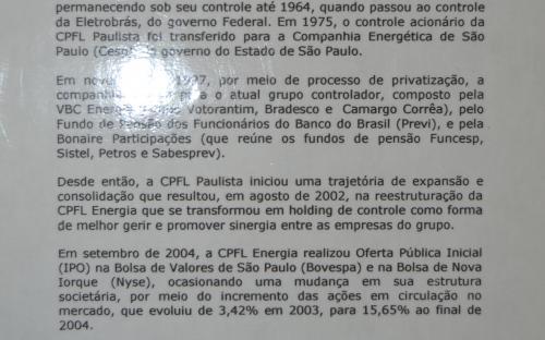 Painel em texto CPFL-História