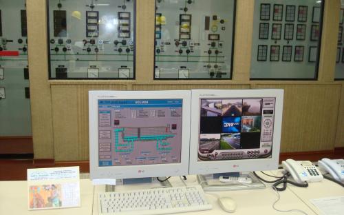 sala comando - controle da eclusa