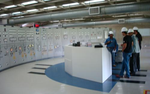 Sala de controle - painel
