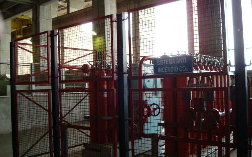 sistema de combate a incêndio das turbinas