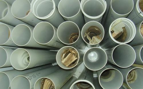 tubos com plantas - arquivo técnico